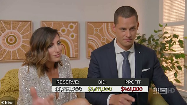 How high will it go?  The couple were the first to have their home under hammer, it was clear they were worried about the sale price.