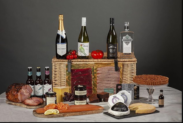 Treat: Christmas food and drink hampers can be bought from a variety of sources this year
