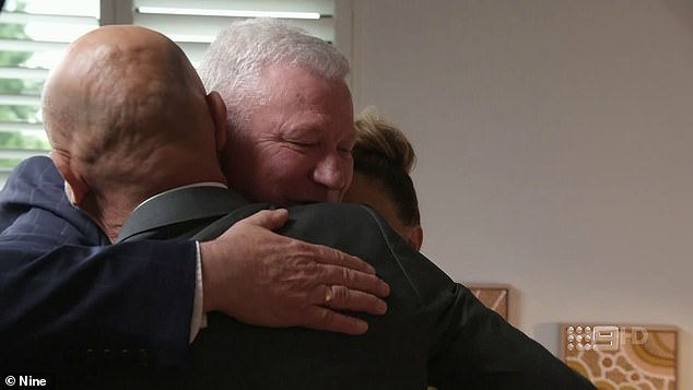 Support:Host Scott Cam offered to give the pair a three-way hug while emotions ran high for the father, daughter duo