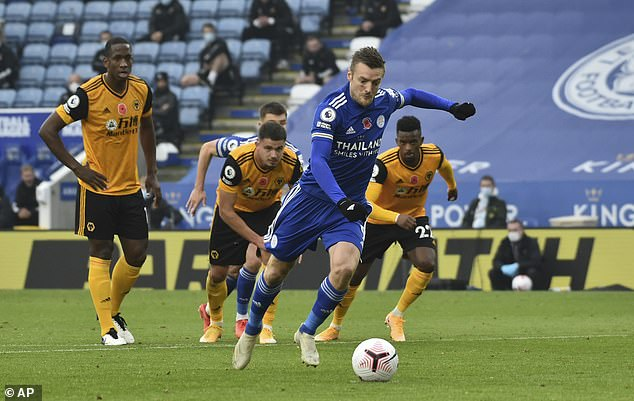 Jamie Vardy's penalty consigned Wolves to defeat at Leicester in their last outing