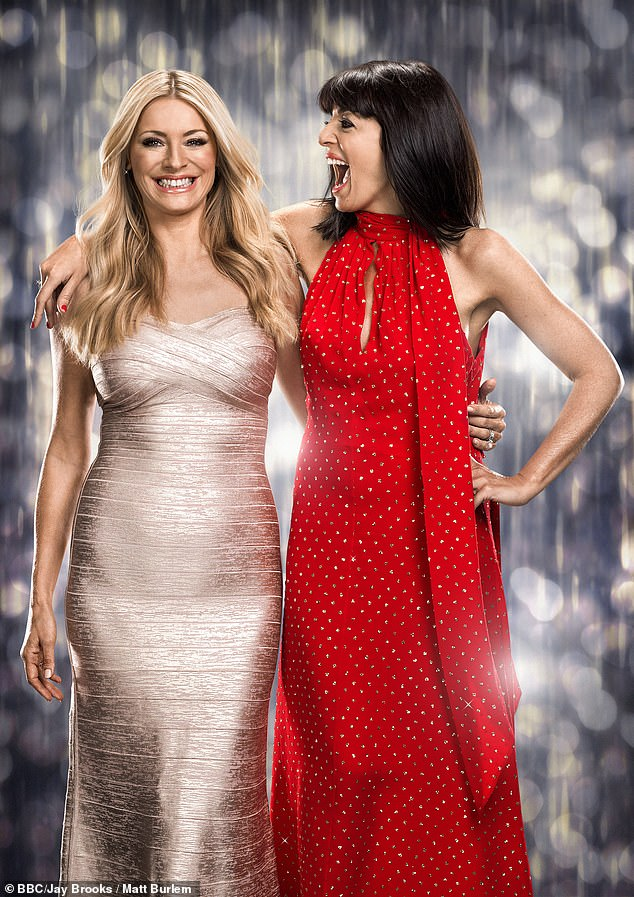 Confidence: Claudia suggested that the condition fills her with so much doubt she doesn't believe she landed the job (pictured with co-host Tess Daly)