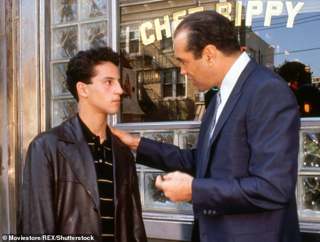 In the film, Sonny (right) acts as a mentor to young Calogero (left), who becomes enamored with the criminal lifestyle of a local gang of Italian-Americans