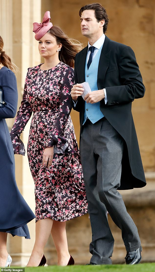 Rupert married Lady Natasha Rufus Isaacs, 37, co-founder of ethical brand Beulah London in 2013, the pair are pictured atthe wedding of Princess Eugenie of York and Jack Brooksbank