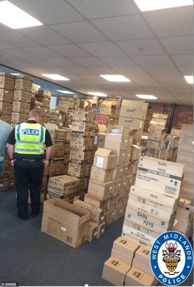Officers learned other collectibles were being sold online which resulted in the force raiding a business unit in Yorkshire