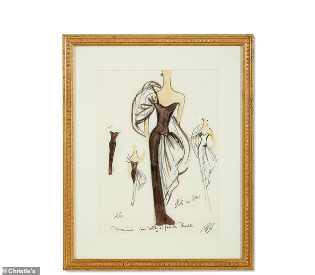 Original sketches from iconic American fashion designer Bill Blass, who passed away in 2002, are also up for sale