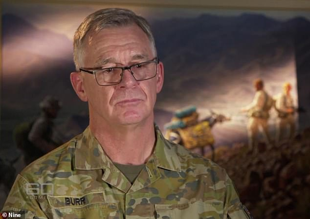 Chief of Army Lieutenant General Rick Burr said he was 'shocked' and 'sickened' by allegations Australian special forces soldiers murdered 39 Afghani citizens
