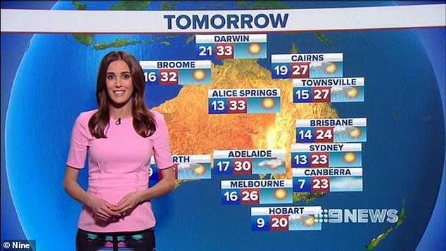 Experienced: In addition to her radio career, Rebecca has worked for Channel Nine on and off for almost a decade. She was appointed host of Victorian-based travel program Postcards in 2011, and joined Nine News Melbourne as a weather presenter three years later