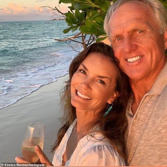 Norman tied the knot with this third wife, Kirsten Kutner, 50, (left) in 2010, and the pair remain happily married