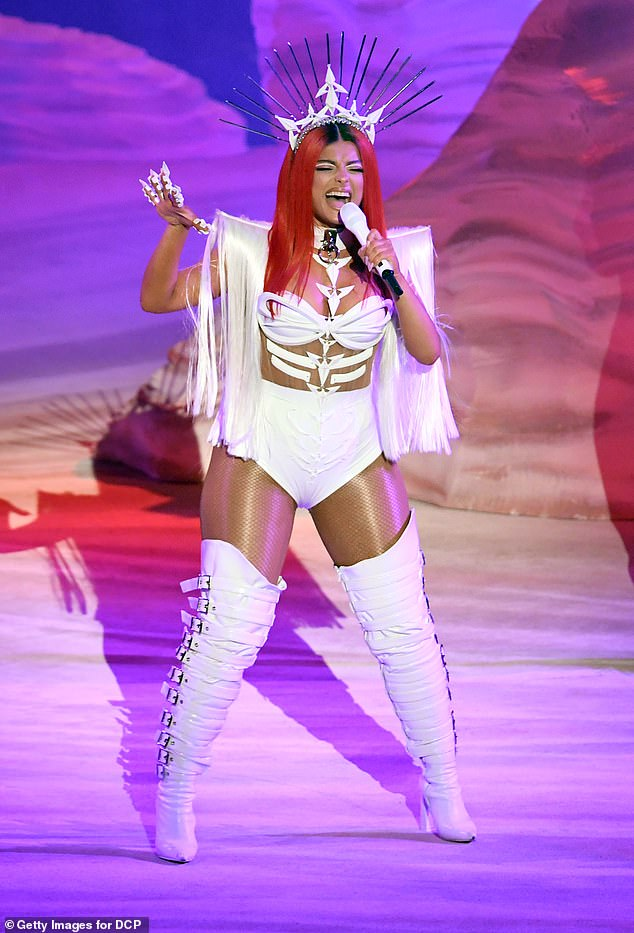 Performer:It's been a busy week for Bebe, as she also took to the stage at Microsoft Theater in downtown Los Angeles to perform at the American Music Awards