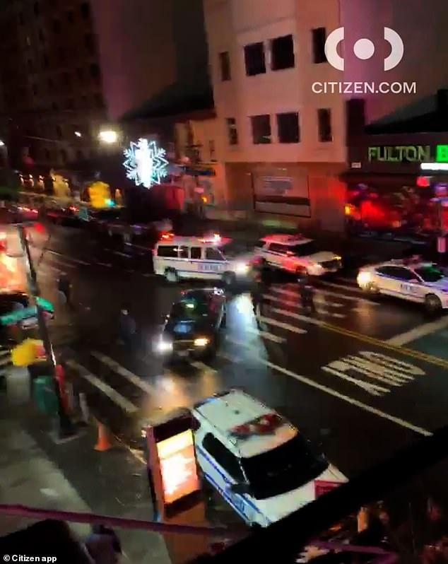 It was unclear what had caused the confrontation in Brooklyn on Sunday night