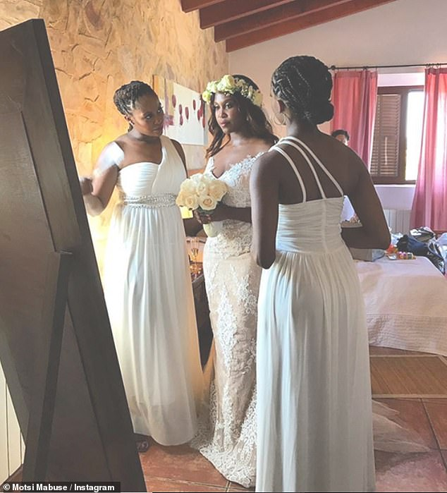 'Bond':Motsi shared a photo from her wedding day as she reflected on the bond she shares with her sisters, Phemelo and Oti, who were also her bridesmaids