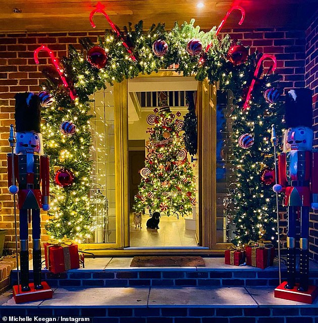 'It's 2020!Meanwhile, Michelle and her husband Mark, 33, have certainly used their time at home wisely - deciding to put up their Christmas decorations this weekend