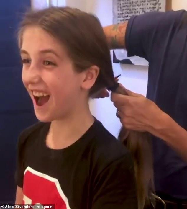 Alicia Silverstone 'cried inside' when her son Bear cut his waist-length hair off