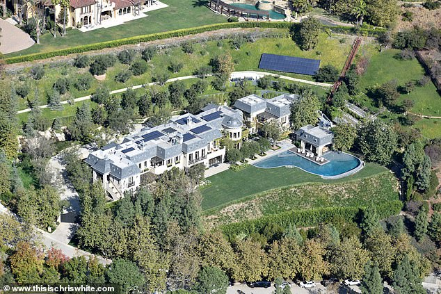 Dr. Dre's mansion is pictured.Dre has previously asked LA Superior Court for a protection order that would limit the documents he has to give Nicole and he has balked at handing over his most private information until Nicole signs a confidentiality agreement which would keep his personal secrets hidden from the world