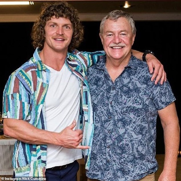 'I love my parents dearly': The former rugby union player also admitted that if it weren't for his father Mark's 'direction' and 'discipline' then he 'wouldn't be where he is today.' Pictured together