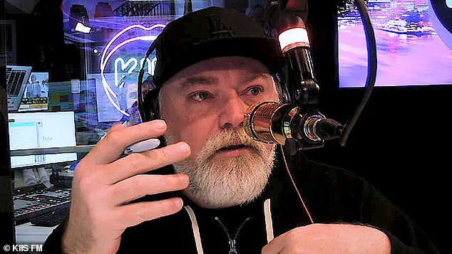 Oof: Kyle Sandilands (pictured), 49, has shut down Nova radio hosts Ben Harvey and Liam Stapleton's pleas to get Zac Efron's phone number for an interview