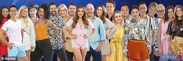 Winner: The most recent season of Big Brother was won by male model and tradie Chad Hurst, who took home $234,656 prize money. Pictured: All the 2020 contestants