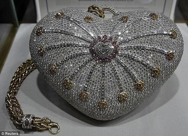 The current most expensive handbag, according to the Guinness World Records, is the Mouawad 1001 Nights Diamond Purse