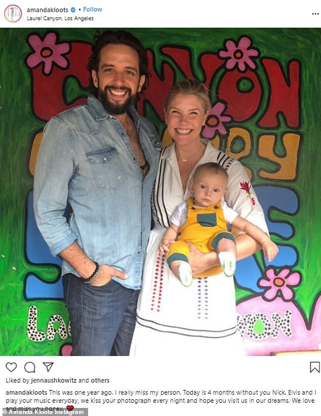 Good times: Earlier this month, Amanda shared a lovely throwback photo of herself with Nick and Elvis that was taken a year earlier