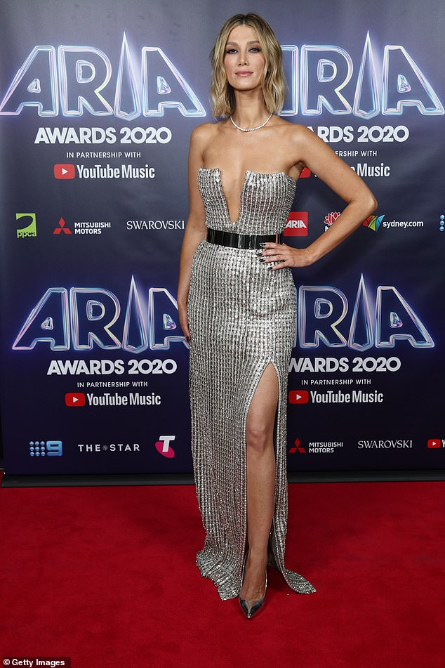 Delta Goodrem, Jessica Mauboy and Emma Watkins lead the red carpet arrivals at the 2020 ARIA Awards