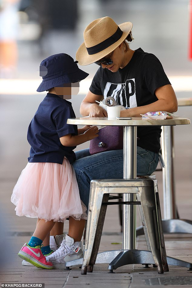 Movies and motherhood: Natalie Portman, 39, was every inch the doting mother as she spent time with her daughter Amalia, three, while in Sydney's ritzy Rose Bay on Wednesday