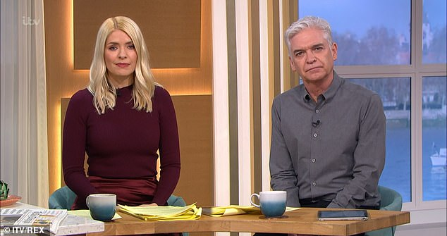 Pals: Holly Willoughby and Phillip Schofield threw their support behind Alison (stock image)