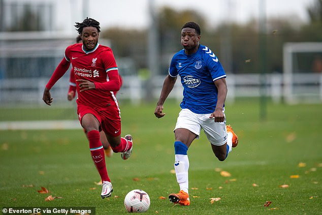 The 16-year-old Everton left-back (right) is regarded as the best player in his position at his age