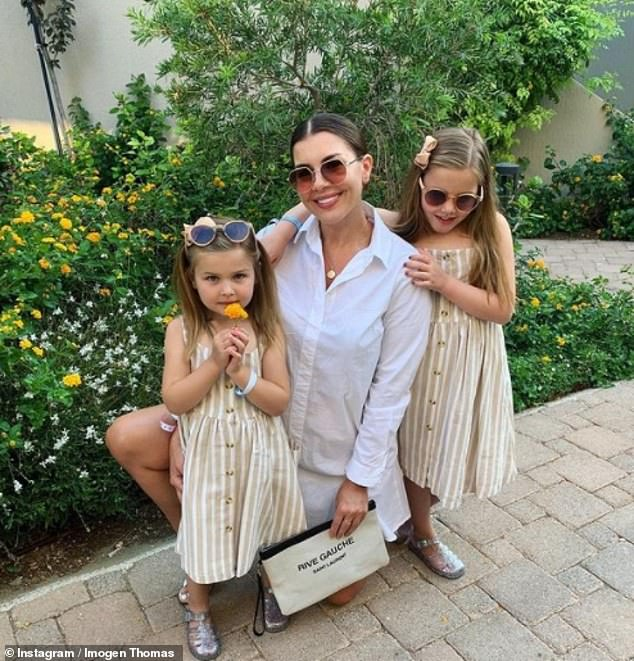 High standards: Single mom Imogen recently admitted no one had been 'good enough' to introduce her children to Ariana, seven, and Siera, four (pictured)