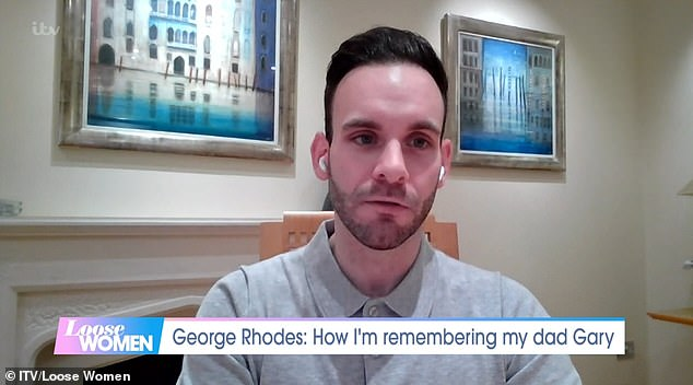 Gary Rhodes' son George (pictured) appeared on Loose Women today and told how he will me marking the first anniversary of his dad's death by flying to Dubai and eating at one of his restaurants who are putting on a meal in his honour