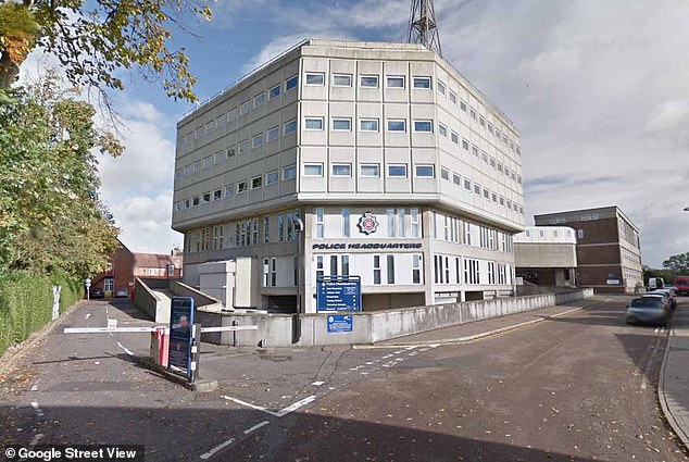 Frontline officers and PCSOs at Essex Police received the warning shortly before one of their number was found guilty of gross misconduct for sending sexual messages to three female colleagues (file photo of the station)
