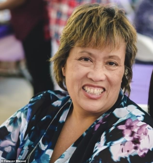 A large share of Filipino nurses have died despite the ethnic group making up just 4% of all registered nurses in the US. Pictured: Nurse Castro-Olega, who died of the virus