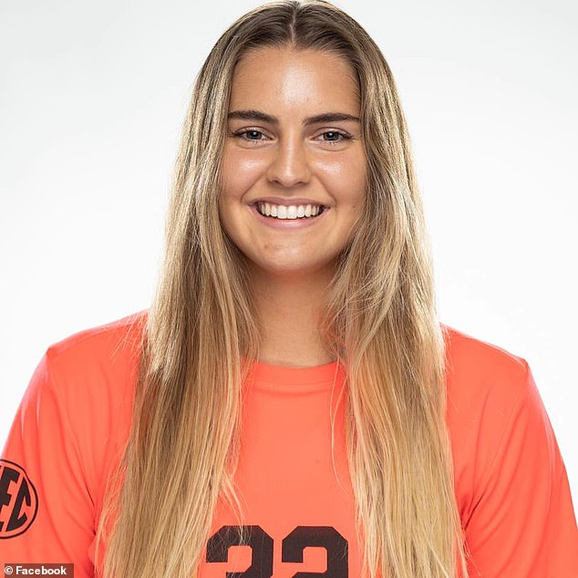 Vanderbilt women's soccer goaltender Sarah Fuller (pictured) is in consideration to become the school football team's new place kicker, potentially making her the first woman to play in a 'Power 5' conference game