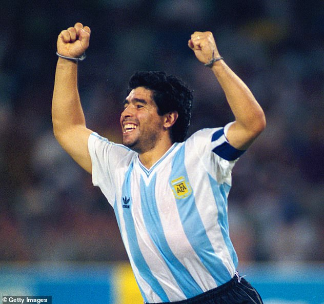 The Argentine football legend died at the age of 60 on Wednesday following a heart attack