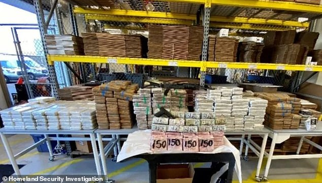 Multiple federal agencies combined to take down a Sinaloa Cartel drug trafficking cell in the San Diego area, arresting three Mexican nationals and seizing$3.5 million in cash in U.S. currency, 685 kilograms of cocaine, 24 kilograms of fentanyl, as many as 20,000 rounds of .50 caliber ammunition and hundreds of bulletproof vests