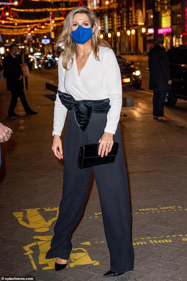Queen Maxima of the Netherlands cut a stylish figure as she attended the presentation of the King Willem I Award this evening
