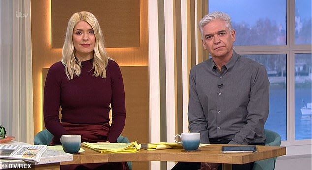 Big bucks: Holly's ITV presenting gigs earn her around £600,0000-a-year. This is despite the fact she only works four days a a week and gets all school holidays off [pictured with This Morning co-host Phillip Schofield]