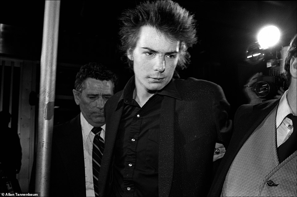 More than 40 years later, it remains a mystery what happened to Nancy Spungen at the Chelsea Hotel. Spungen was part of the punk scene in New York City before she went to London and met Sid Vicious, then the bassist for the Sex Pistols. After the band broke up, the couple holed up and did drugs in the famed artist hotel. She was found stabbed in their room on October 12, 1978 and Vicious was accused of her murder. That morning, Tannenbaum said he had gotten a page, called his answering service and then went to the hotel. Above, Sid Vicious under arrest for the murder of Nancy Spungen, NYC, 1978. While awaiting trial, Vicious died of a drug overdose in February 1979