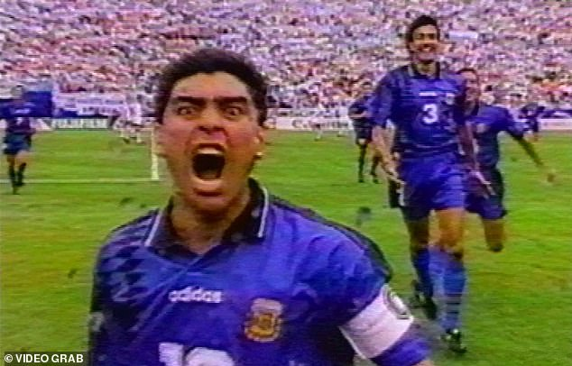 Maradona's scream celebration at the 1994 World Cup perfectly encapsulated him as a player