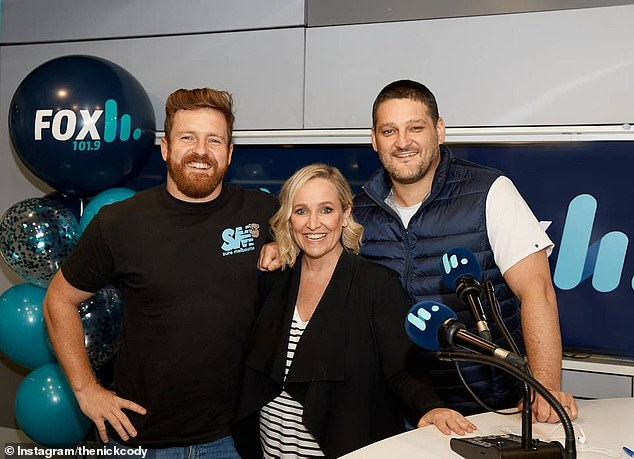 New role: The radio star will be replaced by comedian Nick Cody, who currently co-hosts Triple M Brisbane Breakfast