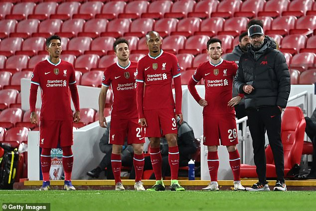 Klopp's side now need to recover quickly to take on Brighton in the Saturday 12.30pm kick-off