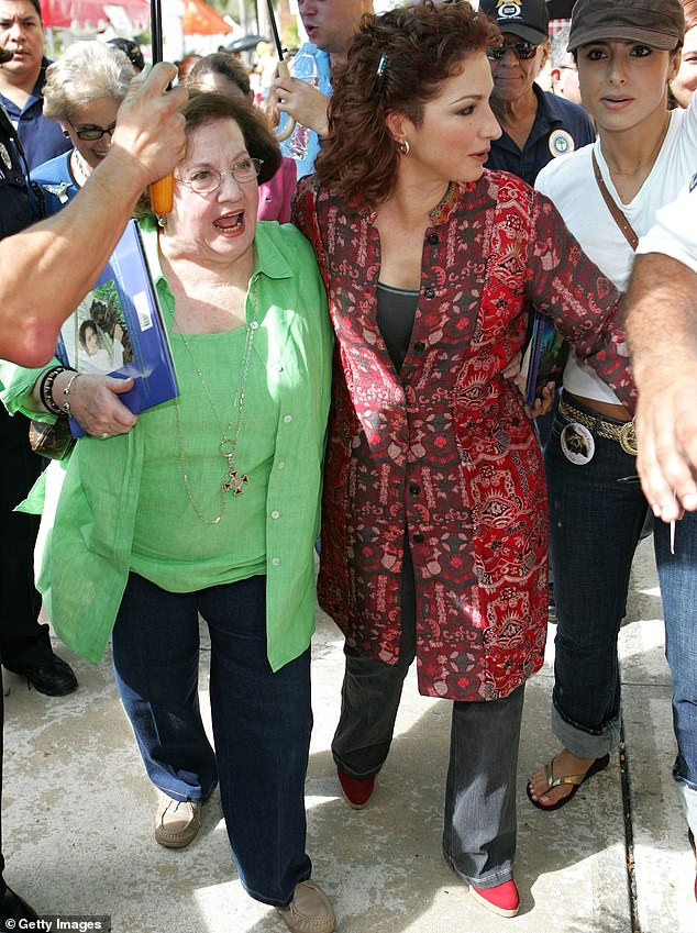 The way they were:'You still, I talk to her everyday before the show,' revealed Gloria; both she and her mother are pictured in Miami in 2005