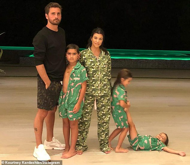 Co-parenting goals: Kourtney was in an on-again, off-again relationship with Scott Disick, 37, from 2006 to 2015, and they share sons Mason Dash, 10, Reign Aston, five, and daughter Penelope Scotland, eight