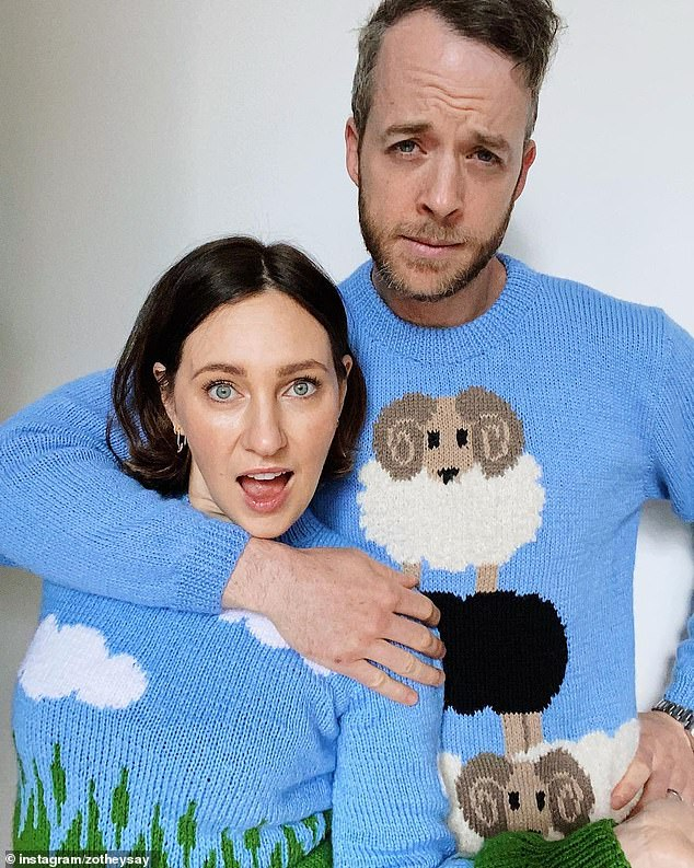 Ms Foster Blake pictured with her comedian husband Hamish Blake. She said the pandemic had triggered growing demand in the self-care market