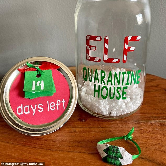 Brilliant: Samantha Sladich Reich is selling quarantine houses that come with tear-away tags to keep track of how many days are left