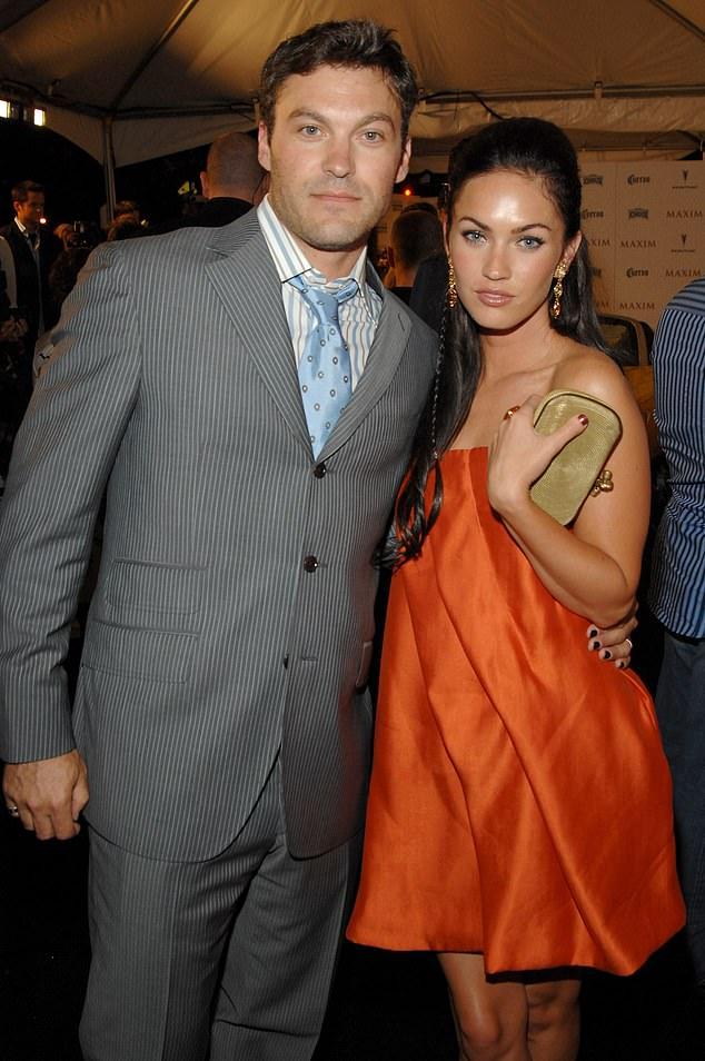A través de los años: Megan y Brian aparecen juntos en 2007, tres años antes de que se casaran en junio de 2010.