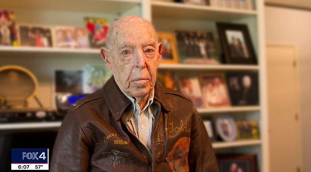Ralph Goldsticker was celebrating his 99th birthday in St Louis, Missouri at the time