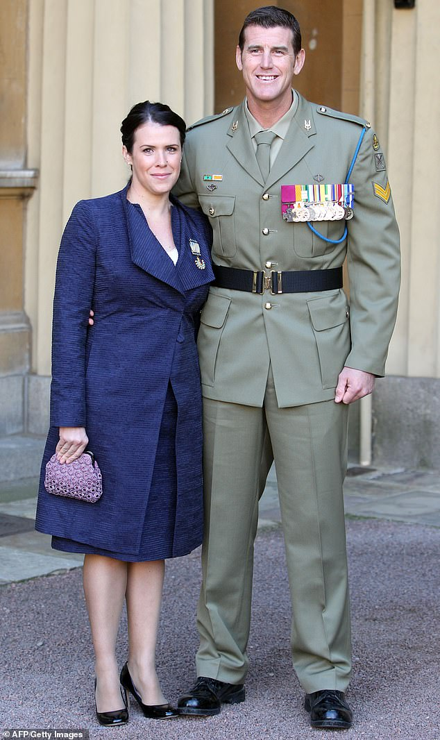 Embattled hero soldier Ben Roberts-Smith and ex-wife Emma have put the sprawling Sunshine Coast mansion they bought in 2015 up for auction (Pictured are the couple in 2011)