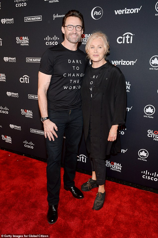 Progressive parenting:'We completely embrace the ancestors and the extended family, they're family to us. And it's in there, even though it's generational. It may be subtle, but it's in there,' she explained; Hugh and Deborra-lee pictured in 2019