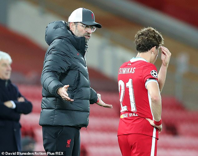 Left back Kostas Tsimikas started ahead of Andy Robertson in Liverpool's defensive set-up