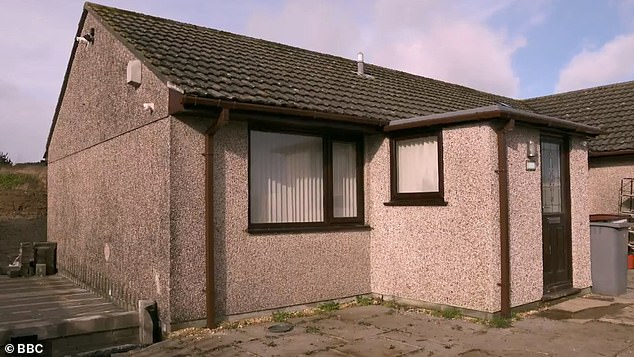 Cramped: Lynn, 56, and Steve, 62, retired foster parents, didn't think twice about moving their grandsons into their bungalow in Cardis Bay, Cornwall, despite there only being two bedrooms